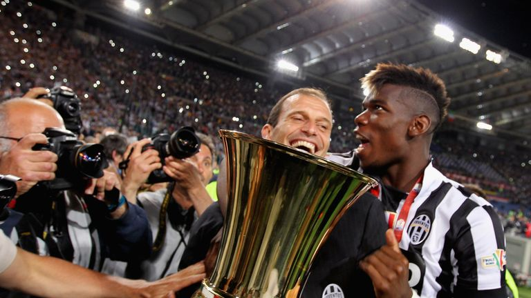Allegri has suggested Pogba could be taking a step back if he returns to Man Utd