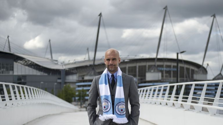 Pep Guardiola spoke to the media for the first time on Friday since taking charge at Man City