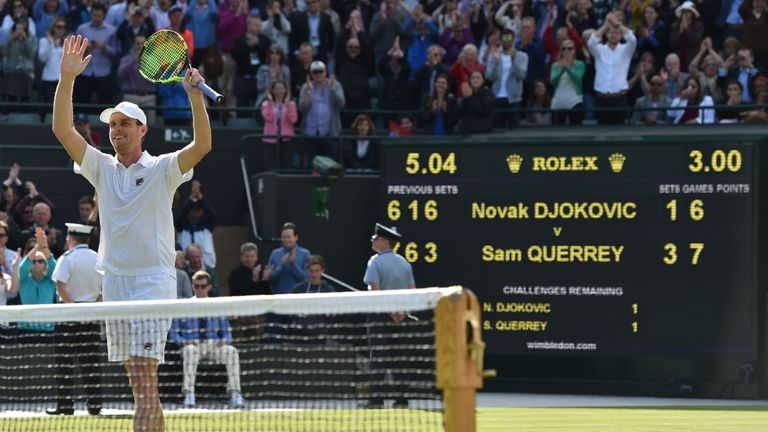Querrey drew praise from the world No 1 after his powerful display