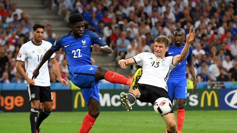 Umtiti won his second cap for France against Germany