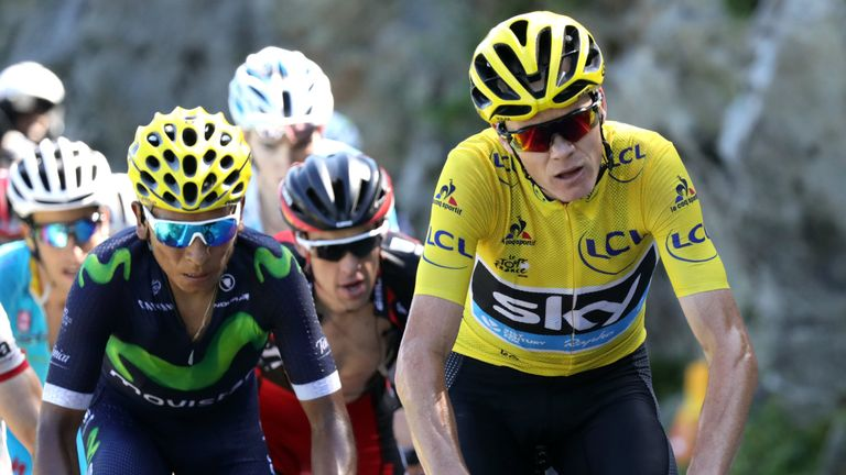 Froome once again put time into a hapless Nairo Quintana