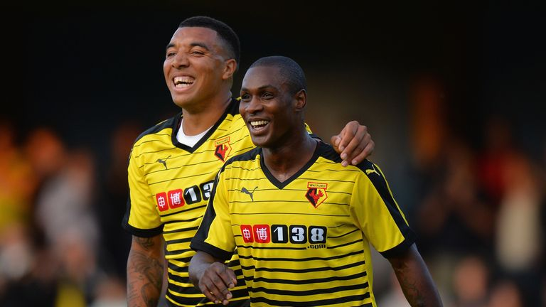 Odion Ighalo (right) and Troy Deeney (left) enjoyed a good partnership last year