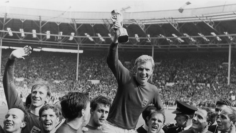 England Captain Bobby Moore Holds The World Cup Aloft In 1966