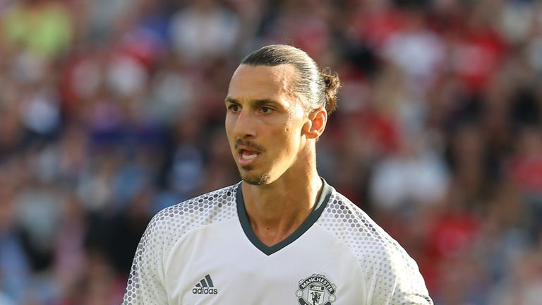 Zlatan Ibrahimovic of Manchester United in action during the pre-season friendly match between Manchester United and Galatasaray