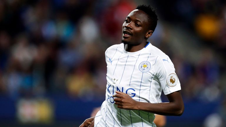Ahmed Musa in action for Leicester in pre-season