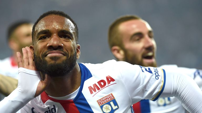 Alexandre Lacazette said he is open to further offers but is otherwise happy at Lyon