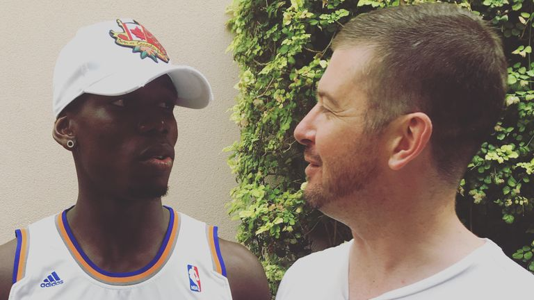 Sky Sports News HQ reporter Andy Burton caught up with Pogba in Las Vegas
