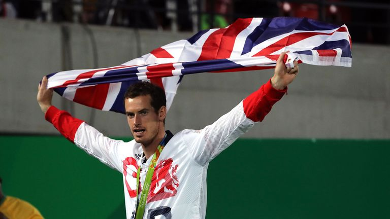 Murray claimed a second Olympic gold medal with victory over Juan Martin del Potro in Rio