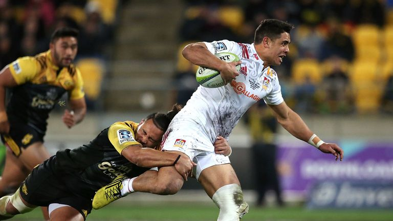 Anton Lienert-Brown (R) in action for the Chiefs