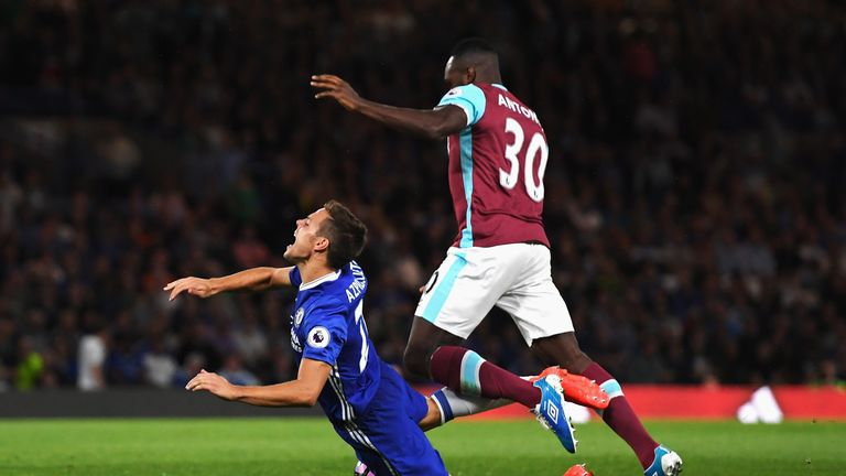 Antonio gave away a penalty in the defeat to Chelsea at Stamford Bridge