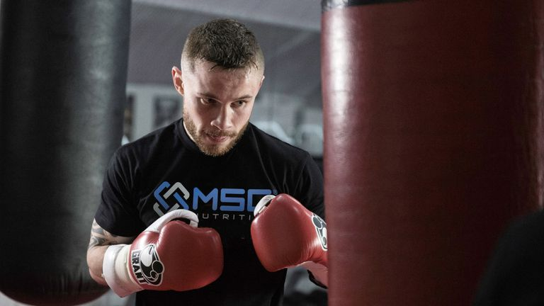 Frampton has been working hard in the gym to improve on his first performance against the Mexican