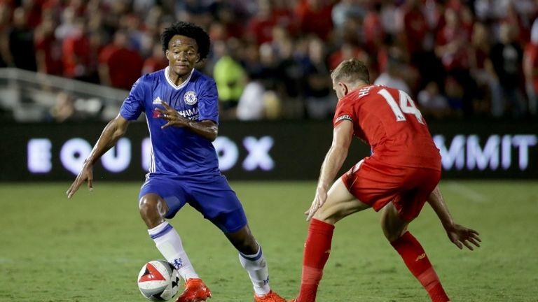 Cuadrado in pre-season action for Chelsea