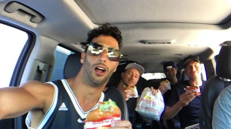 Ricciardo has been on a road trip with his friends in the US