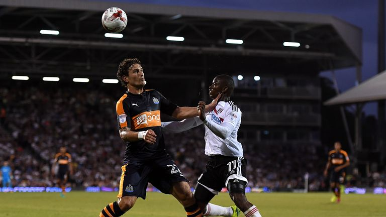 Janmaat played in Newcastle's opening Championship game against Fulham