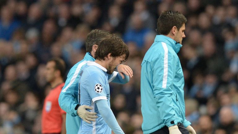 David Silva missed 14 Premier League games during the 2015/16 season