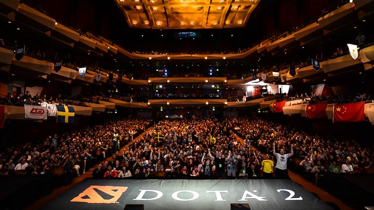 Dota 2 fans go wild in the eSports Arena