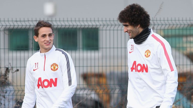 David Moyes is keen to bring Marouane Fellaini (right) and Adnan Januzaj (left) to Sunderland