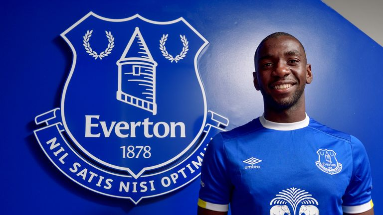 Yannick Bolasie signed for Everton on a five-year deal