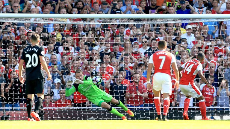 Simon Mignolet, Liverpool's current first choice, saved a penalty against Arsenal