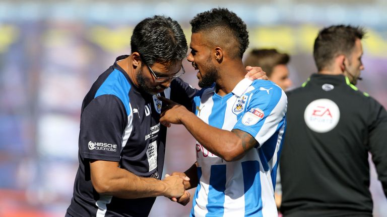 Elias Kachunga has featured heavily for David Wagner's Huddersfield