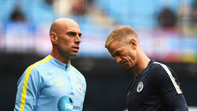 Willy Caballero came in for City as Joe Hart was left on the bench
