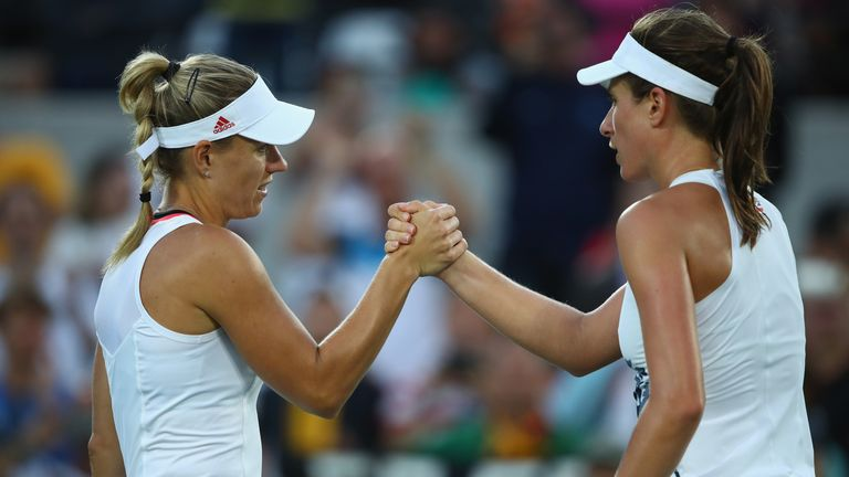 Johanna Konta  suffered a straight sets defeat to Germany's Angelique Kerber