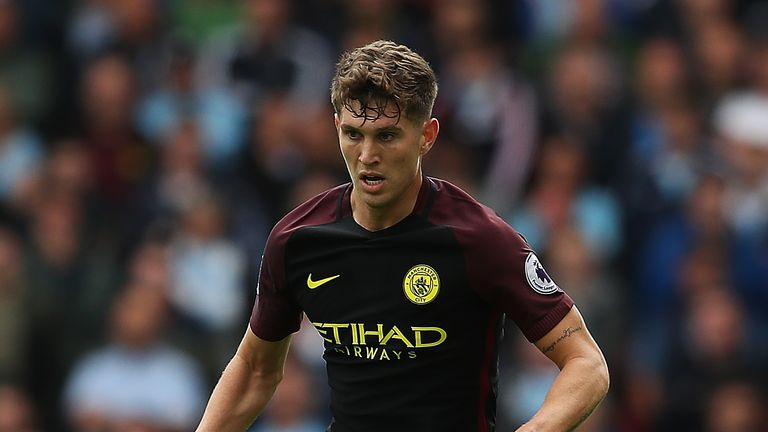 John Stones in action for Man City