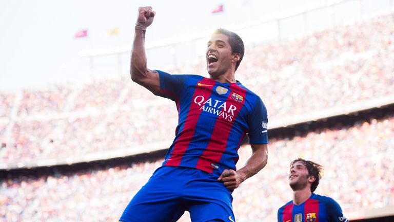 Luis Suarez has been linked to a move to Manchester United but Barcelona's president says they're in contract talks