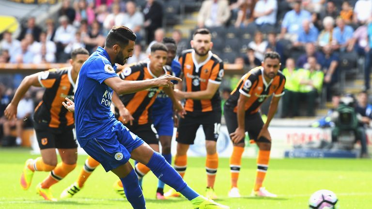 Mahrez scored from the penalty spot in Leicester's opening day defeat at Hull