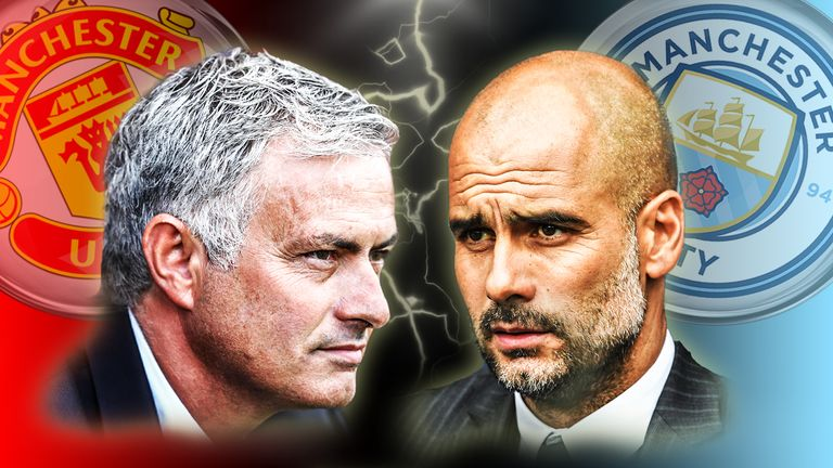 Manchester United v Manchester City is live on Sky Sports 1 from 11.30am on Saturday
