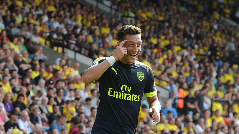 Ozil says stats prove there is no issue with his attitude