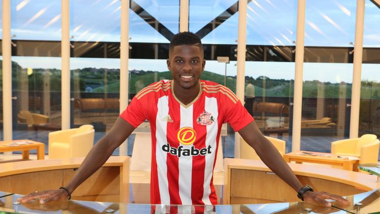 Papy Djilobodji is a Sunderland player now (pic from @SunderlandAFC)