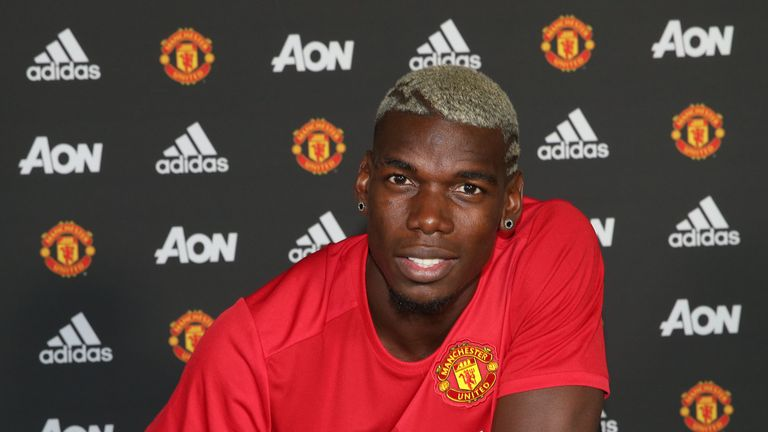 Pogba moved to United last summer for a world-record fee