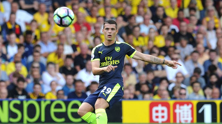 Granit Xhaka has joined Arsenal's midfield this season