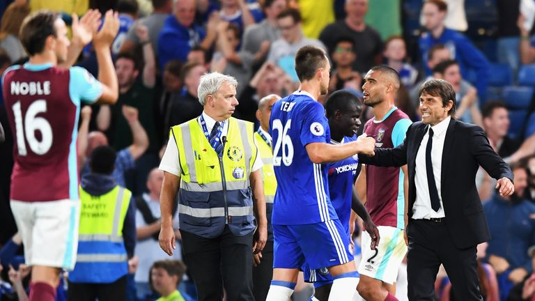 Terry was delighted to secure victory in Antonio Conte's first match as Chelsea head coach