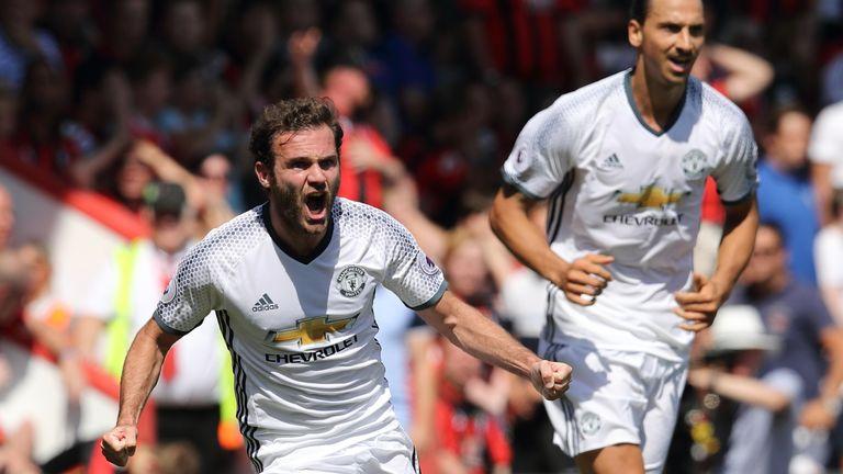 Juan Mata scored the opener for United