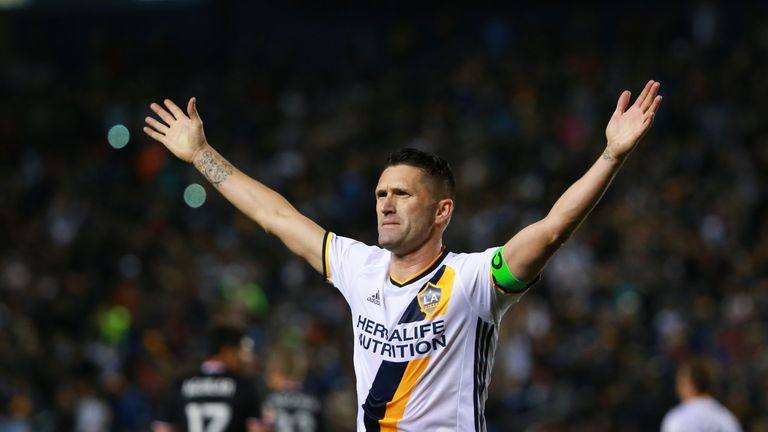 Keane last played for Los Angeles Galaxy in the MLS in November 2016