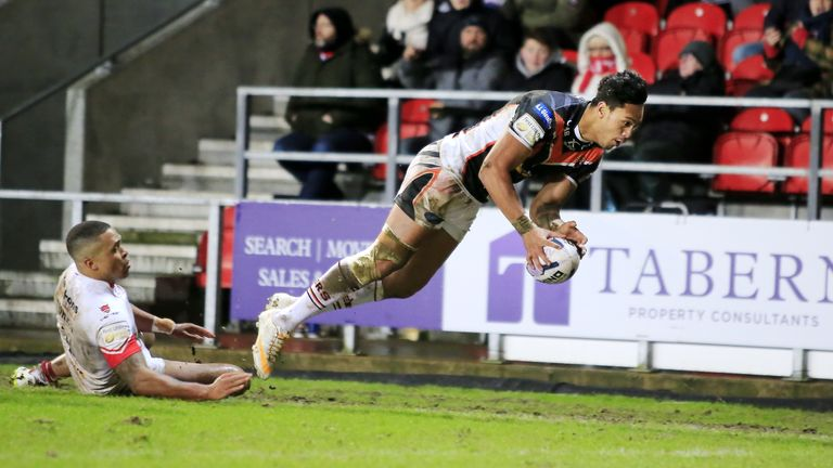 Solomona has scored 28 tries in 21 appearances for Castleford this season