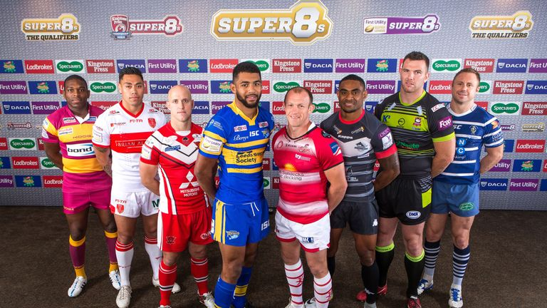 Wes Naiqama (third from right) pictured at the launch of Super 8s Qualifiers