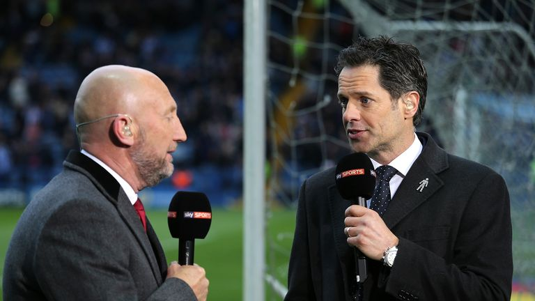 Scott Minto (right) will present Sky Sports' live EFL coverage on Friday and Sunday