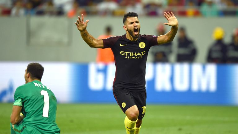 Sergio Aguero made amends for missing two penalties