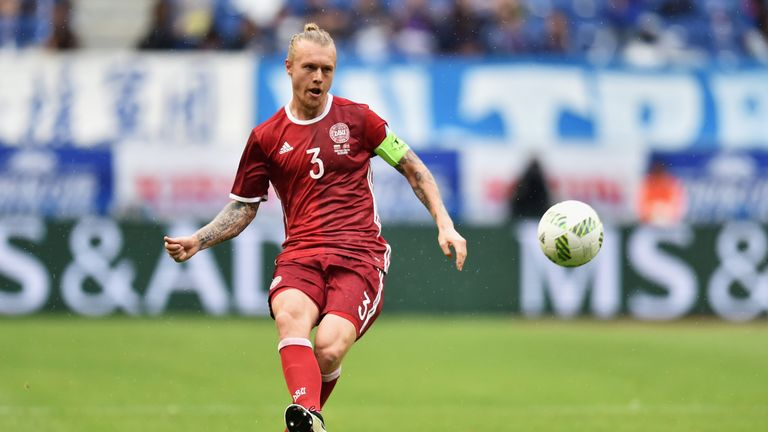 Simon Kjaer has 59 caps for Denmark and has captained the side