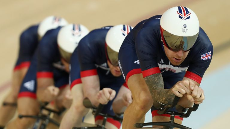 Sir Bradley Wiggins (right) will be part of Great Britain's men's pursuit team