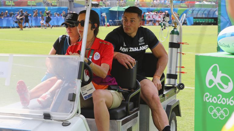 Sonny Bill Williams suffered a partial rupture of an Achilles against Japan