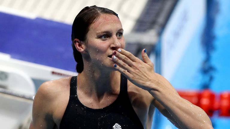 Jazz Carlin won silver in the 400m and 800m freestyle