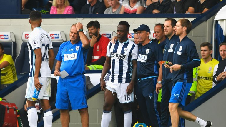 Tony Pulis has said Berahino is not currently close to first-team place