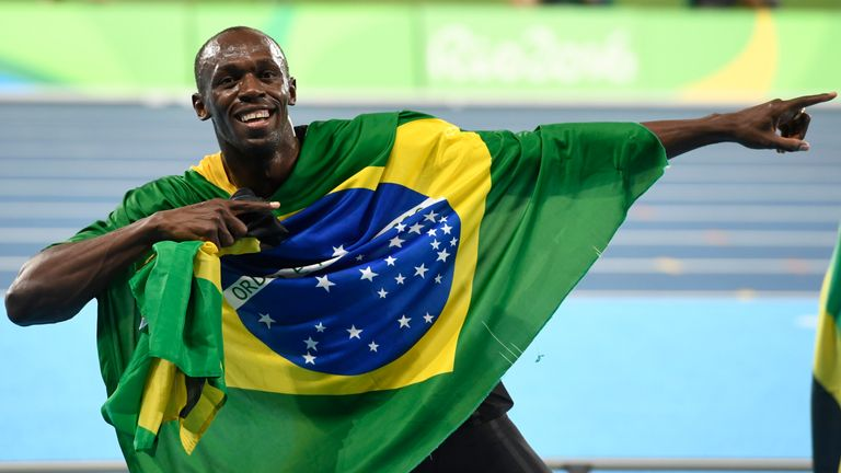 Bolt's ability to connect with the crowd was in strong evidence in Brazil