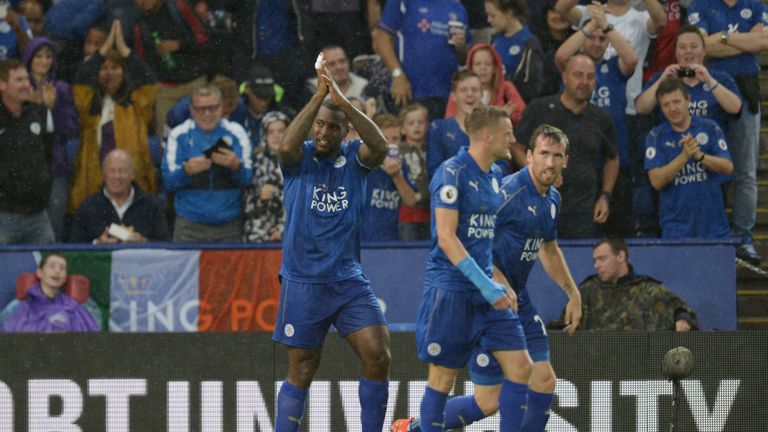 Morgan bagged Leicester's second