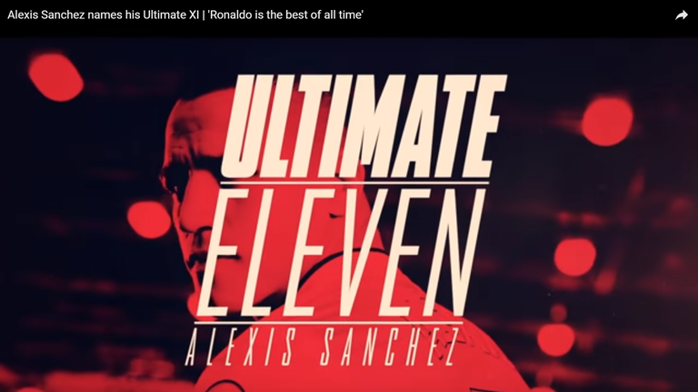 Alexis Sanchez selected his Ultimate XI on Arsenal's official YouTube page