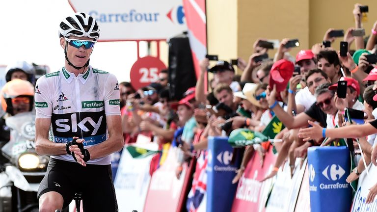 Froome applauded Quintana as he crossed the finish line